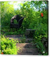 In The Garden Acrylic Print by Teresa Mucha