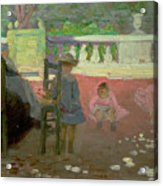 In The Luxembourg Gardens  Acrylic Print by Henri Edmond Cross