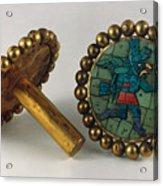 Inca Earrings Acrylic Print by Granger