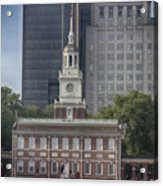 Independence Hall Acrylic Print by Tom Gari Gallery-Three-Photography