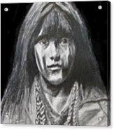Indian Princess Acrylic Print by Stan Hamilton