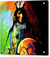 Indian Shadows Acrylic Print by Lance Headlee