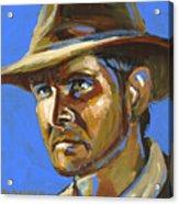 Indiana Jones Acrylic Print by Buffalo Bonker