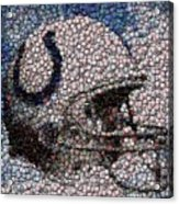 Indianapolis Colts Bottle Cap Mosaic Acrylic Print by Paul Van Scott