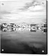 Infrared Beach Houses On The Water Acrylic Print by John Rizzuto
