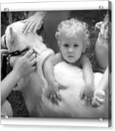 Innocence And Love Acrylic Print by Brian Wallace