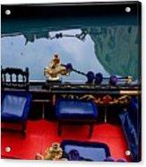 Inside Gondola In Venice Acrylic Print by Michael Henderson