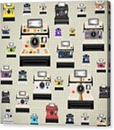 Instant Camera Pattern Acrylic Print by Setsiri Silapasuwanchai