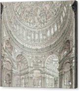 Interior Of Saint Pauls Cathedral Acrylic Print by John Coney