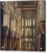 Interior Of The Mosque Of El Mooristan In Cairo Acrylic Print by Adrien Dauzats