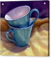 Into Cups Acrylic Print by Jane Bucci