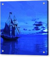 Into The Blue Acrylic Print by Timothy McPherson