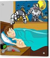 Invading Alien Robot Acrylic Print by Aloysius Patrimonio