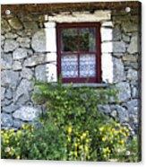 Irish Cottage Window County Clare Ireland Acrylic Print by Teresa Mucha