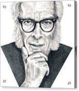 Isaac Asimov Acrylic Print by Murphy Elliott