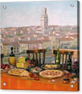 Italian Cityscape-verona Feast Acrylic Print by Italian Art