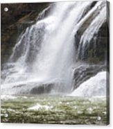 Ithaca Falls On Fall Creek - Mountain Showers Acrylic Print by Christina Rollo
