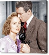 Its A Wonderful Life, From Left Donna Acrylic Print by Everett