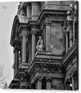 It's In The Details - Philadelphia City Hall Acrylic Print by Bill Cannon