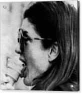 Jacqueline Kennedy Onassis Licks An Ice Acrylic Print by Everett