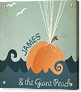 James And The Giant Peach Acrylic Print by Megan Romo