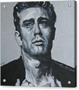James Dean One Acrylic Print by Eric Dee