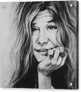 Janis Joplin Acrylic Print by Steve Hunter