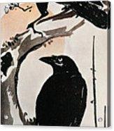 Japanese Print: Crow Acrylic Print by Granger