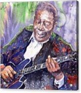 Jazz B B King 06 Acrylic Print by Yuriy  Shevchuk