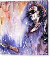 Jazz Miles Davis 14 Acrylic Print by Yuriy  Shevchuk
