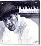 Jazz Roberto Fonseca Acrylic Print by Yuriy  Shevchuk