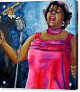 Jazzy Lady Acrylic Print by Linda Marcille