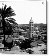 Jerusalem View From The Southwest Acrylic Print by Munir Alawi