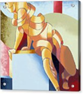Jesse - Abstract Acrylic Figurative Painting Acrylic Print by Mark Webster