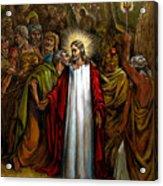 Jesus Betrayed Acrylic Print by John Lautermilch
