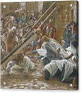 Jesus Meets His Mother Acrylic Print by Tissot