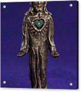 Jesus Statue With Sacred Heart Acrylic Print by Jasmina Agrillo Scherr