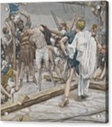 Jesus Stripped Of His Clothing Acrylic Print by Tissot