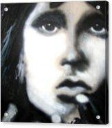 Jim Morrison Ravens Claws   Acrylic Print by Jon Baldwin  Art