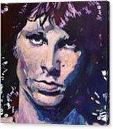 Jim Morrison The Lizard King Acrylic Print by David Lloyd Glover