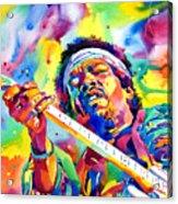 Jimi Hendrix Electric Acrylic Print by David Lloyd Glover