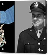Jimmy Doolittle And The Medal Of Honor Acrylic Print by War Is Hell Store
