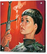Joan Of Arc Acrylic Print by James Edwin McConnell