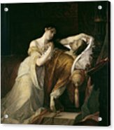 Joanna The Mad With Philip I The Handsome Acrylic Print by Louis Gallait