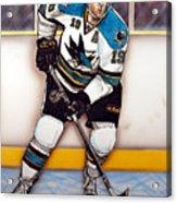 Joe Thornton San Jose Sharks Acrylic Print by Dave Olsen