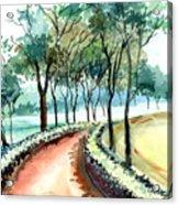 Jogging Track Acrylic Print by Anil Nene
