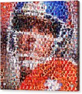John Elway Mosaic Acrylic Print by Paul Van Scott