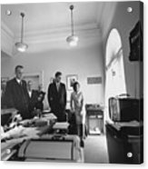 John Kennedy And Others Watching Acrylic Print by Everett