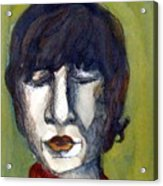 John Lennon As An Elf Acrylic Print by Mindy Newman