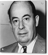 John Von Neumann 1903-1957 Acrylic Print by Everett